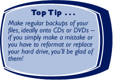 Top Tip - making backups!